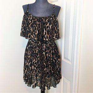 Guess Leopard Print Sleeveless Mini Dress Size 7